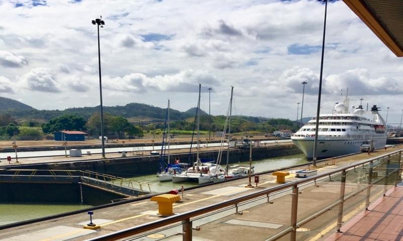 Canal do Panamá, cidade do Panamá (Foto: Viriato Moura)