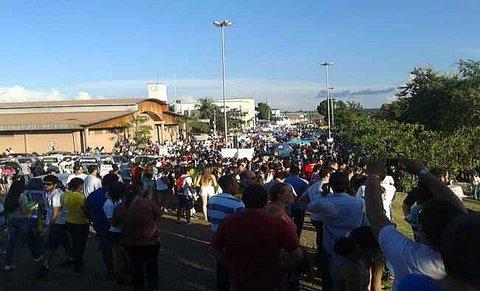 Passeata transcorre em clima de paz em Porto Velho