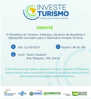 Programa Investe Turismo chega em Rondônia