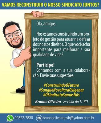 Servidor do TJ-RO lança campanha para Reconstruir a luta sindical no Estado de Rondônia