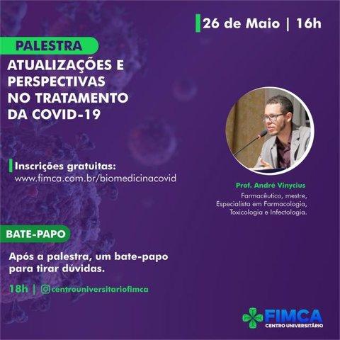 Biomedicina realiza palestra online sobre atualizações no tratamento da  COVID-19 - Gente de Opinião