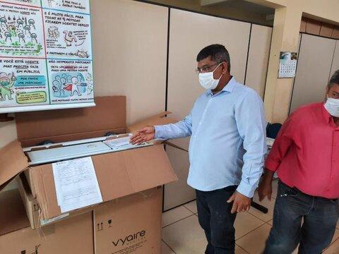 Covid-19 - Prefeitura de Candeias do Jamari recebe 02 respiradores