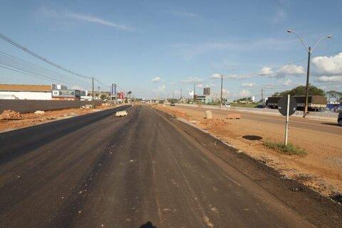 BR 364 - Após pavimentação, Prefeitura de Porto Velho inicia iluminação e sinalização de marginais