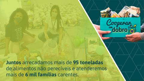 Com o apoio da comunidade, Sicoob Credip arrecada mais de 95 toneladas de alimentos