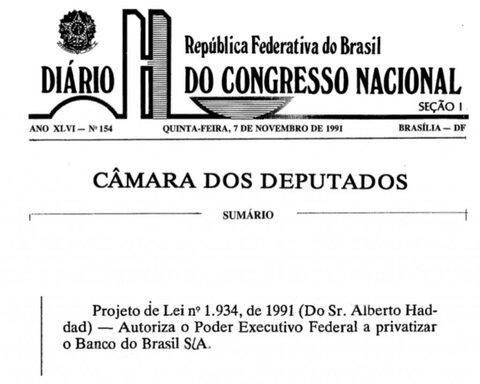 Dropes da história: privatização do Banco do Brasil