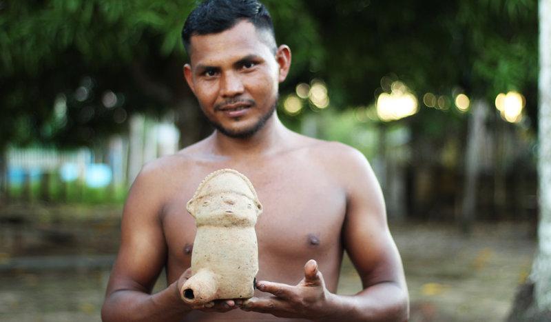 Comunitários irão estudar artefatos pré-colombianos (Foto: Maurício Silva)