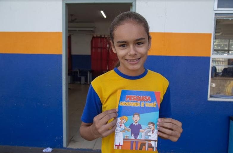 Isabella Campos - aluna do 6º ano da Escola Municipal Nossa Senhora de Nazaré