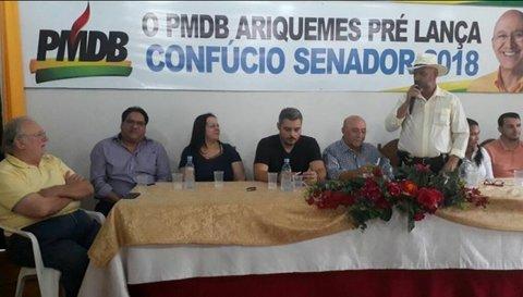 PMDB de Ariquemes lança o nome do governador Confucio Moura ao Senado Federal - Por Mara Paraguassu
