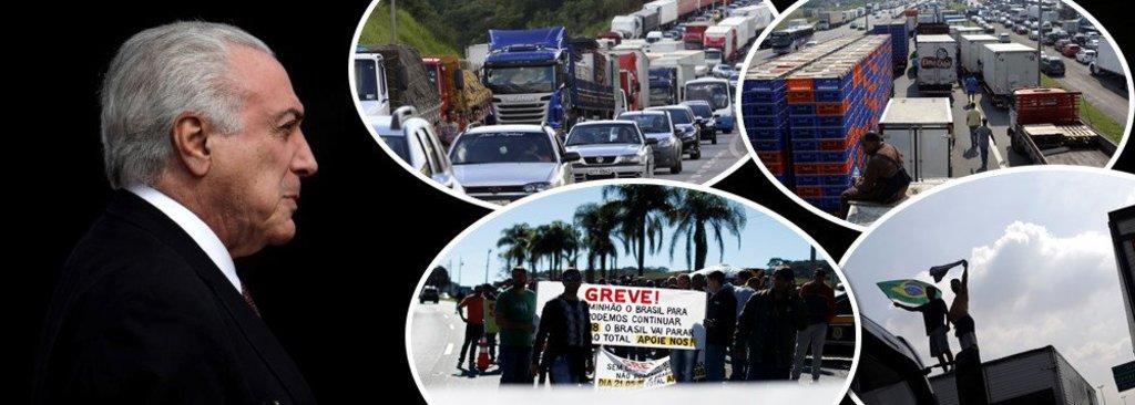 Temer trai caminhoneiros, que ameaçam fazer nova greve ainda mais forte  - Gente de Opinião