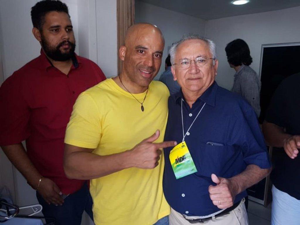Emerson Castro e Tomás Correia já em clima de Paz!!! Foto Domingos Tavares - Gente de Opinião