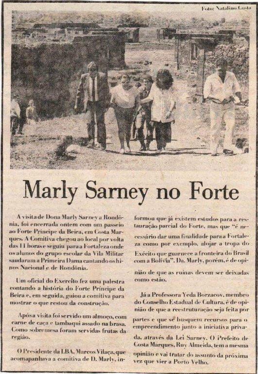 Alto Madeira, 17/07/87 – Foto Natalino Costa/Decom - Gente de Opinião