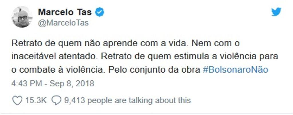 Marcelo Tas: Bolsonaro não aprendeu com a vida - Gente de Opinião