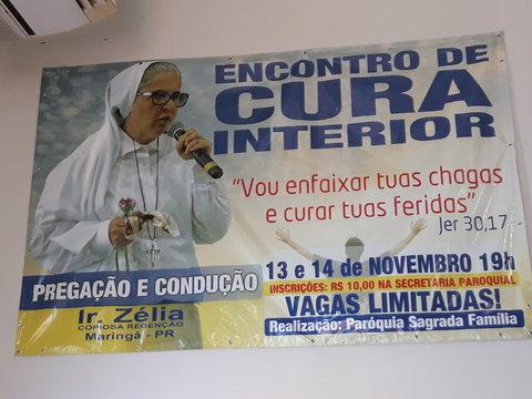 """Paróquia realiza """"Encontro de Cura Interior"""" em novembro"""