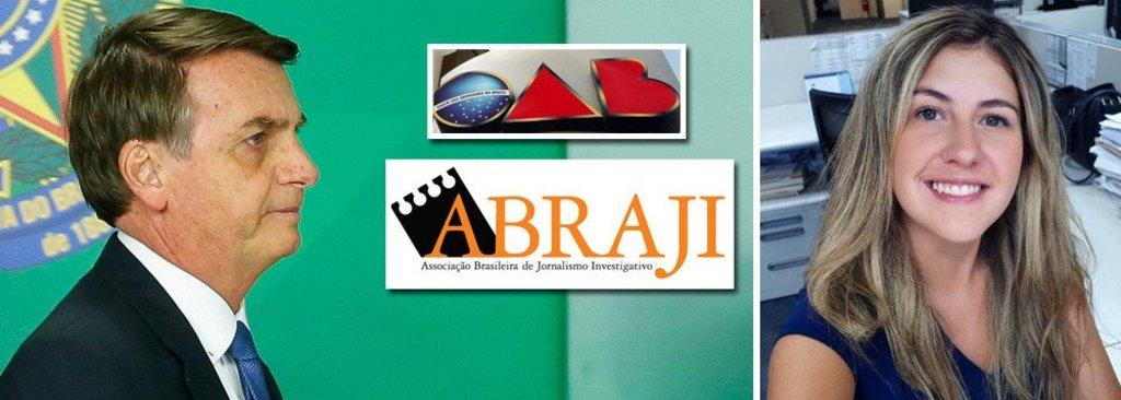 OAB e ABRAJI repudiam a agressão de Bolsanaro à jornalista  - Gente de Opinião