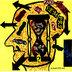 Dilemas, pincel atômico, caneta e colagem sobre cartão (Viriato Moura)