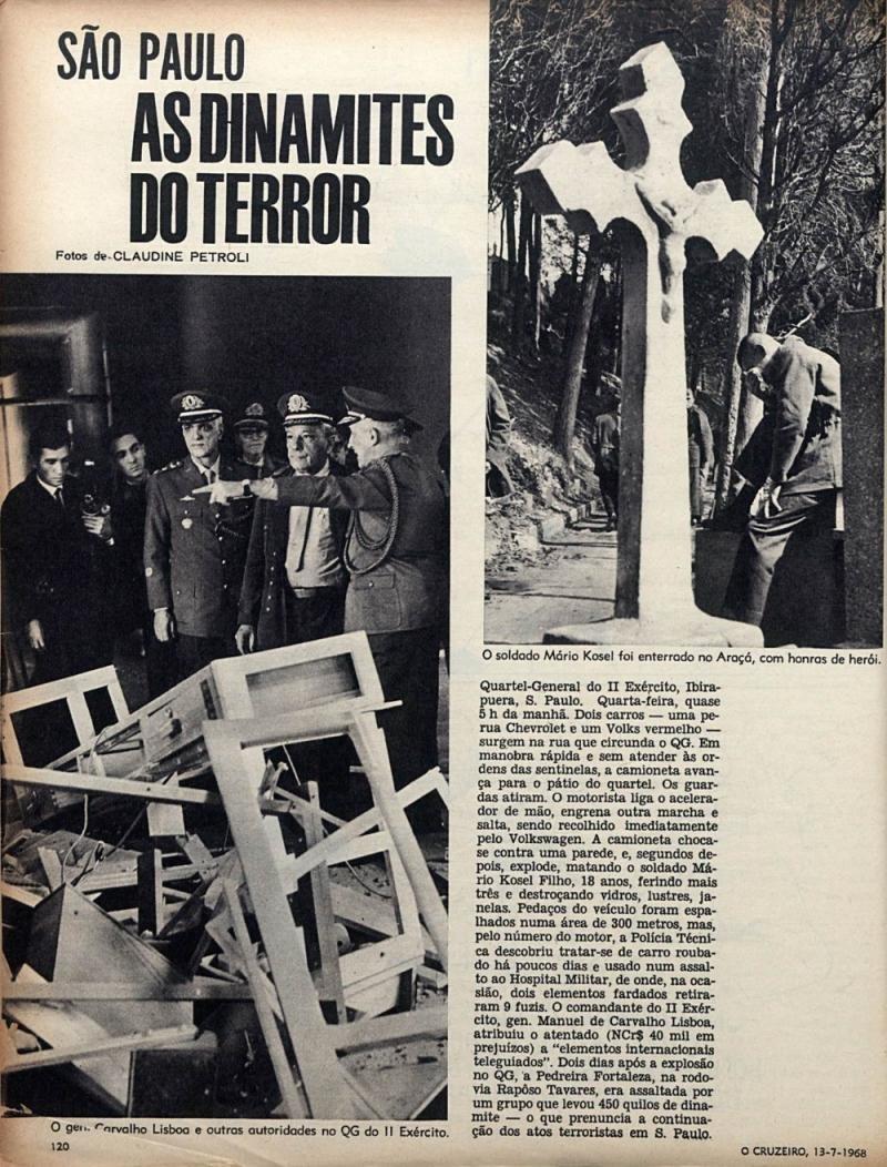 31 de março de 1964 (Parte V): O Heroico Soldado Mário Kosel Filho  - Gente de Opinião