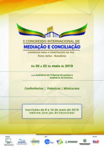 Emeron: II Congresso Internacional de Mediação e Conciliação tem inscrições abertas - Gente de Opinião
