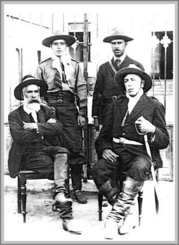 Imagem 05 – General Zeca Netto sentado à esquerda - Gente de Opinião