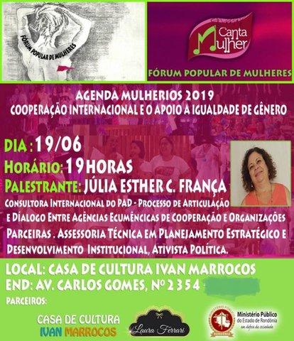 Casa de Cultura Ivan Marrocos recebe palestra sobre Cooperação Internacional e apoio as ações de gênero no Brasil - Gente de Opinião