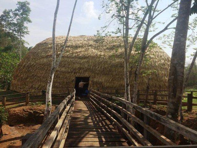 Uma oca foi erguida nas imediações do Memorial Rondon - Gente de Opinião