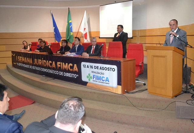 Centro Universitário FIMCA realiza I Semana Jurídica - Gente de Opinião