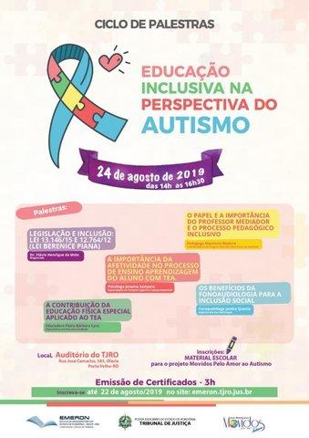 """Ciclo de Palestras: """"Educação Inclusiva na Perspectiva do Autismo"""" - Gente de Opinião"""
