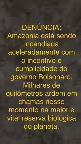 Bolsonaro revela-se o demônio que sopra fogo na Amazônia - Gente de Opinião