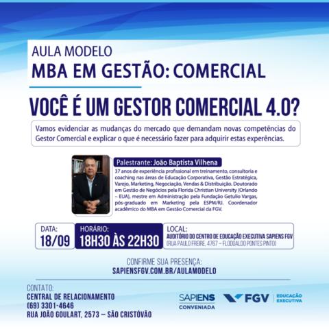 """Sapiens FGV realiza aula aberta com tema """"Você é um gestor comercial 4.0?"""", em Porto Velho - Gente de Opinião"""