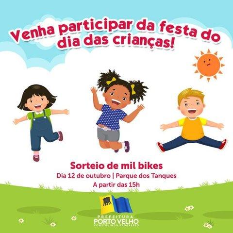 Dias das Crianças - Festa deste ano terá sorteio de mil bicicletas - Gente de Opinião