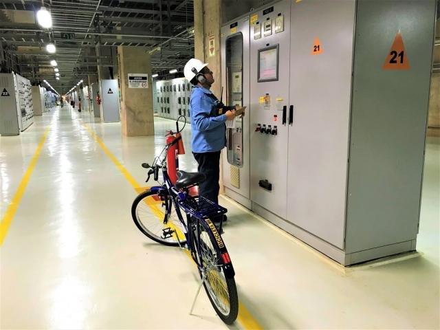Bicicletas garantem agilidade nos trabalhos na Hidrelétrica Santo Antônio - Gente de Opinião