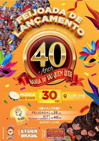 Banda do Vai Quer dá início as comemorações dos seus 40 anos! - Gente de Opinião