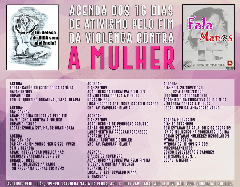"""Fórum realiza campanha """"16 Dias de Ativismo pelo Fim da Violência contra à Mulher"""" - Gente de Opinião"""