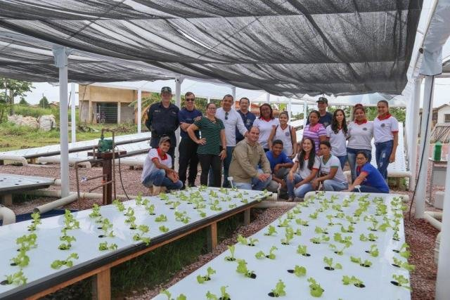 UHE Jirau entrega horta de cultivo hidropônico para o Colégio Tiradentes da Polícia Militar em Jaci Paraná - Gente de Opinião