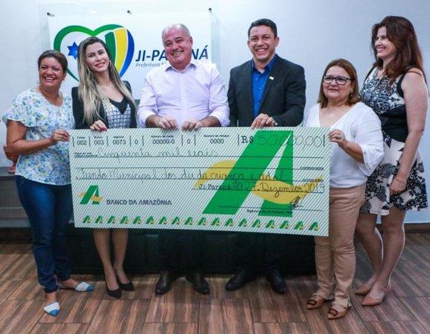 Fundo da Criança de Ji-Paraná recebe R$ 50 mil do BASA - Gente de Opinião