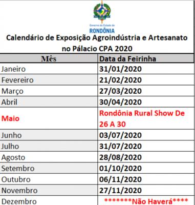 Exposição de produtos da agricultura familiar ganha calendário fixo no Palácio Rio Madeira, em Porto Velho