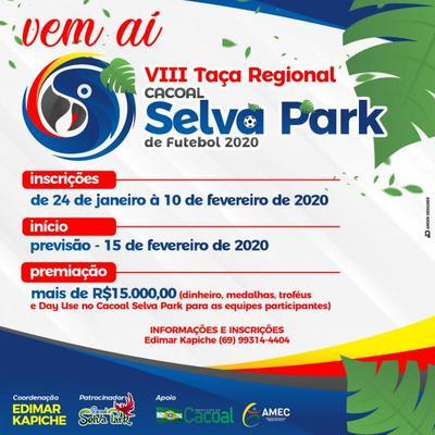 Taça Cacoal Selva Park de Futebol tem inscrições abertas até o dia 10