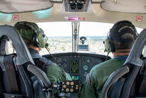 Rondônia - Secretaria de Segurança Pública realiza treinamento com policiais em espaço aéreo