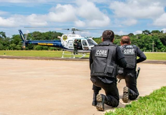 Policiais Civis da Coordenadoria de Recursos Especiais da Polícia Civil – CORE sendo treinados. - Gente de Opinião