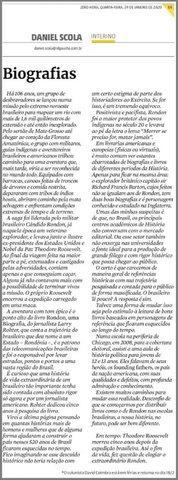 O Rondon de Daniel Scola – I Parte - Gente de Opinião