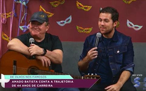 Em entrevista à SIC TV, Amado Batista comemora 44 anos de carreira