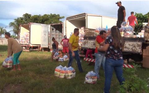 Porto Velho: moradores da Vila Princesa são beneficiados com doação de alimentos