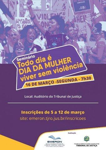 Emeron promove campanha contra a violência de gênero com palestras e seminário - Gente de Opinião