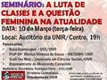 DCE/UNIR promove seminário temático sobre a questão feminina