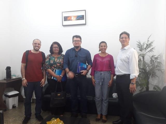 Jornalistas Mara e Mineia com Sandro Colferai, Marcelo e Alysson - Gente de Opinião