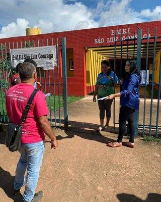 Vereadora Cristiane Lopes fiscaliza Escola São Luiz Gonzaga na zona Leste da Capital