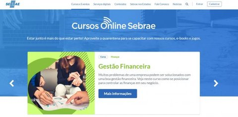Plataforma do Sebrae disponibiliza cursos gratuitos