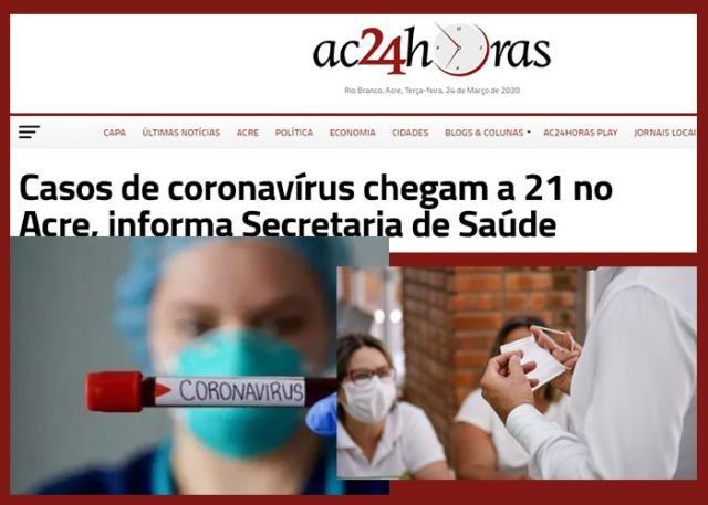 Nosso vizinho Acre confirma 21 casos de coronavírus + Refaz manterá milhares de empregos + Sem corte de energia por 90 dias - Gente de Opinião