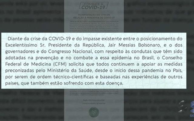 CFM diz que população deve continuar seguindo as determinações do ministério da saúde - Gente de Opinião