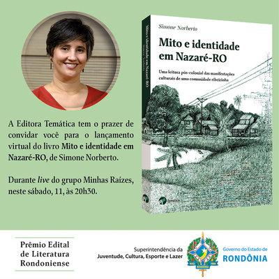 Simone Norberto lança livro sobre Nazaré, no sábado