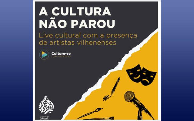 Lives da Fundação Cultural com artistas de Vilhena começam nesta semana, entenda - Gente de Opinião
